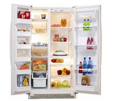 冰箱里的食物卡通画