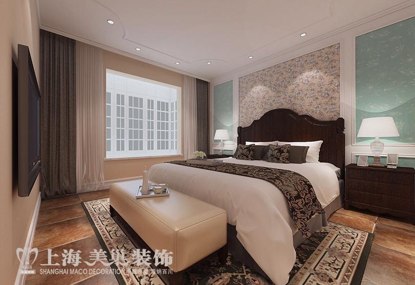 帝湖花园三室两厅130平美式乡村风格装修效果图 平面户型方案