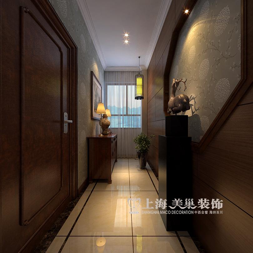 厅140平装修效果图沉稳新中式高清图片