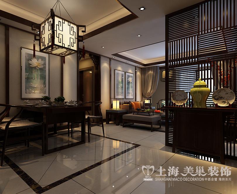 新中式风格装修效果图 电视背景墙 -郑州 美巢装饰 装修公司