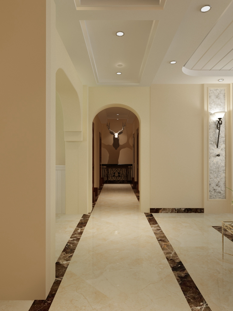 玄关装修效果图 群力百年俪景小区151平三居室 哈尔滨实创装饰电话和