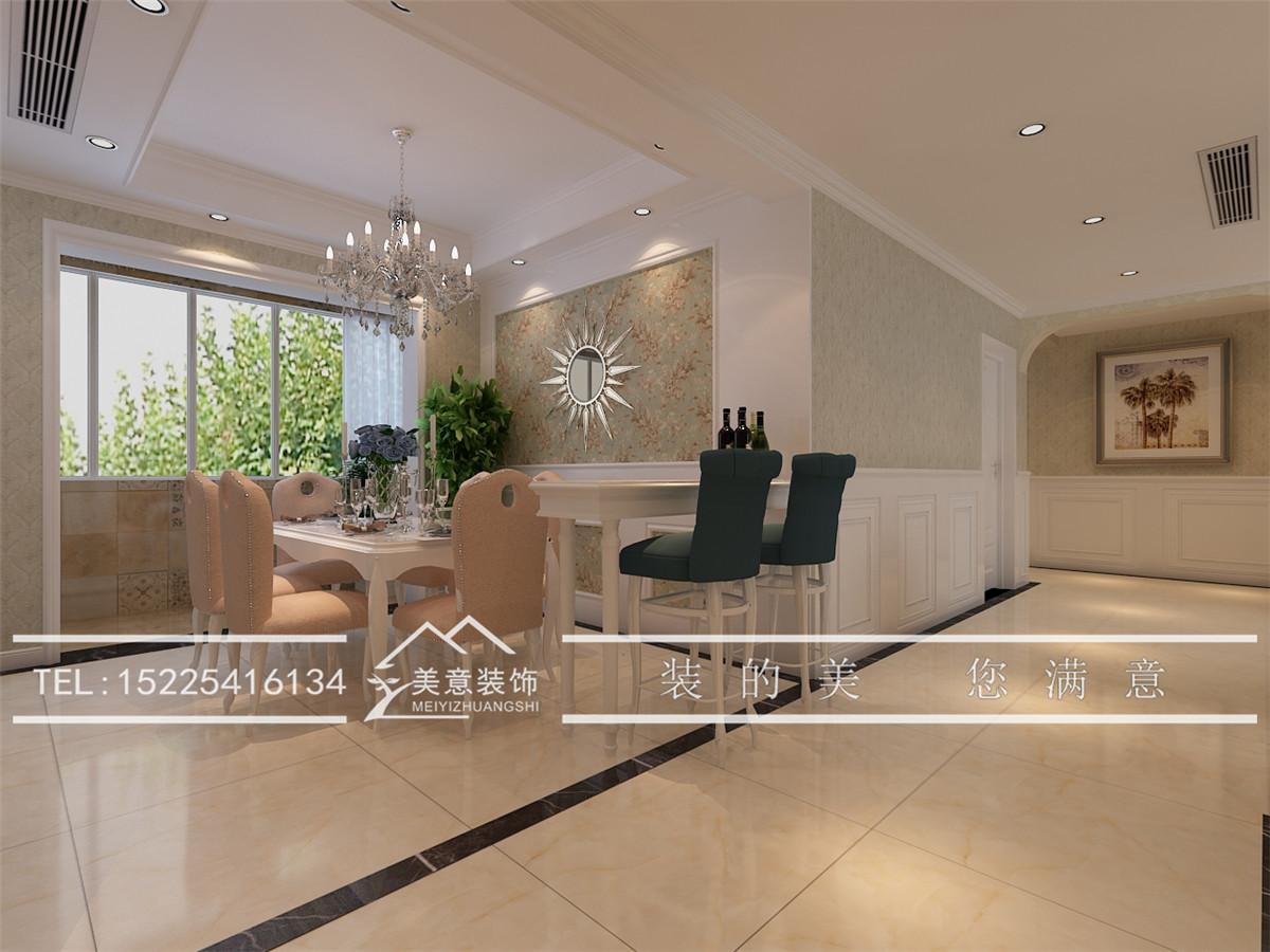 洛阳190平大户型简欧风格装修报价,轻奢客厅美在墙上!