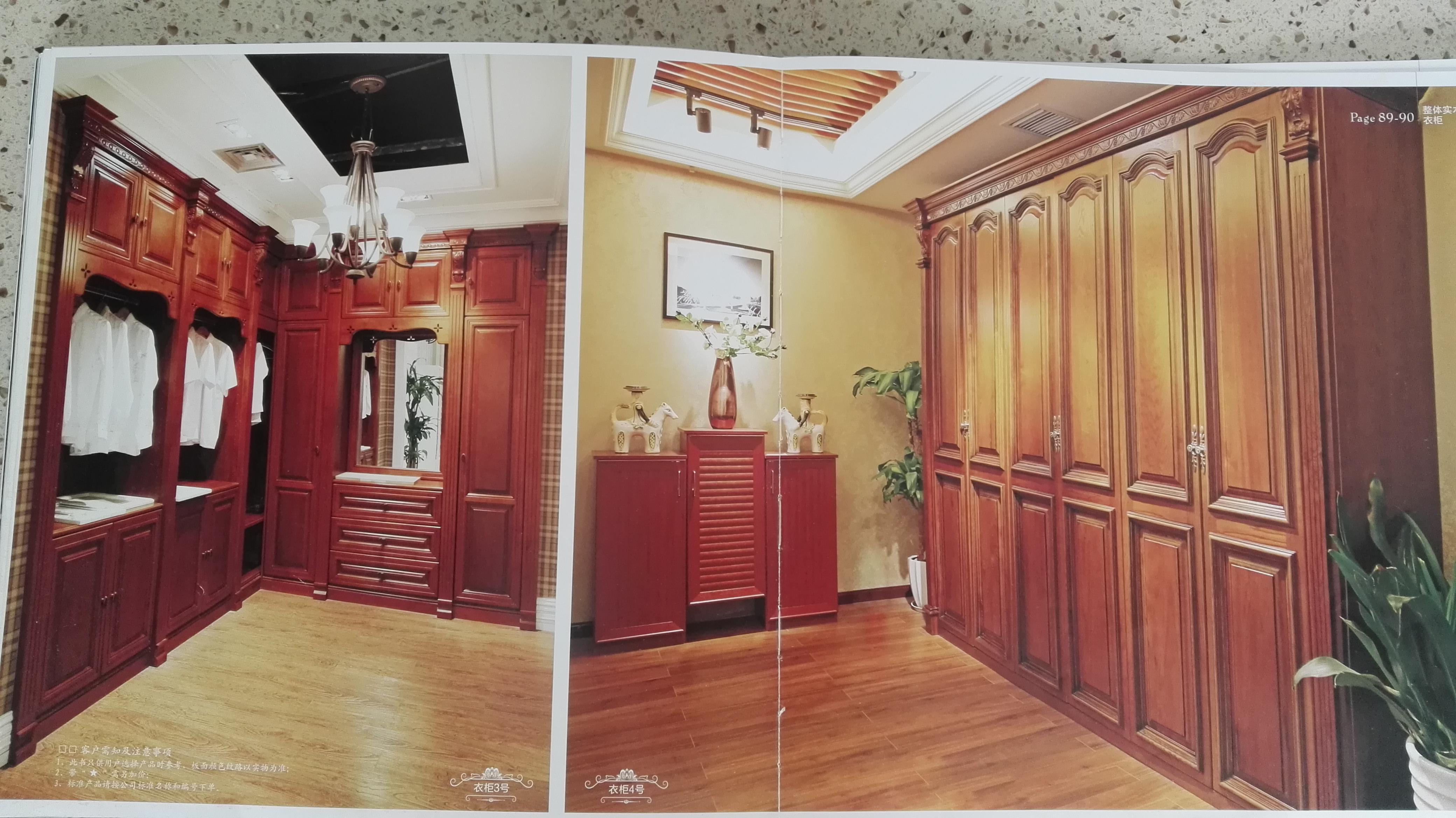 红橡木欧式风格衣柜图片