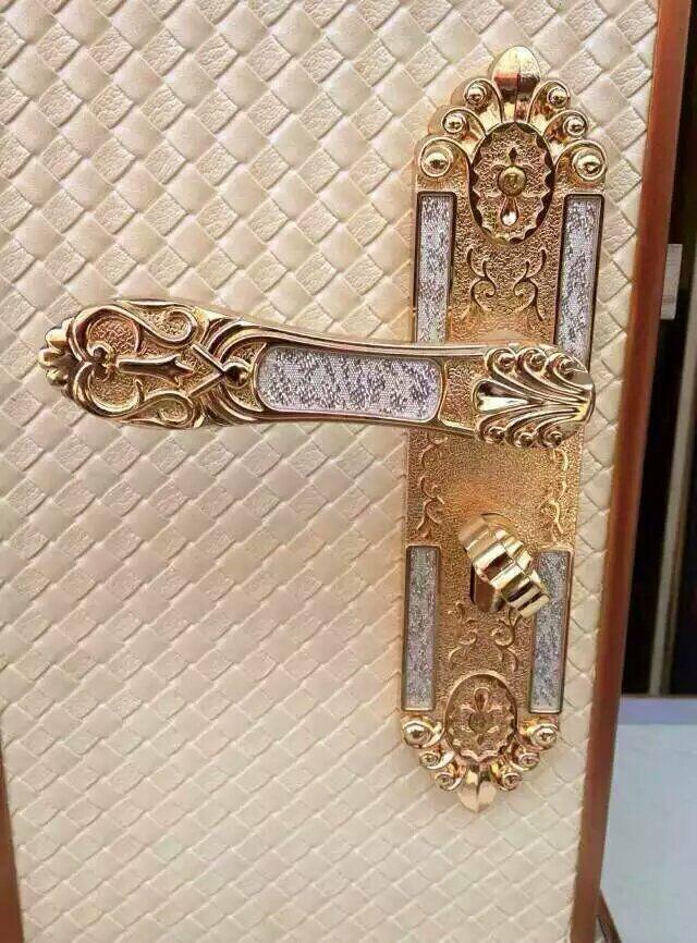 房门锁�B102-202亮金银