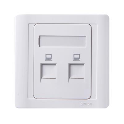 simon西蒙电气55系列N55228S二位信息插商洛装修 智能照明 开关插座