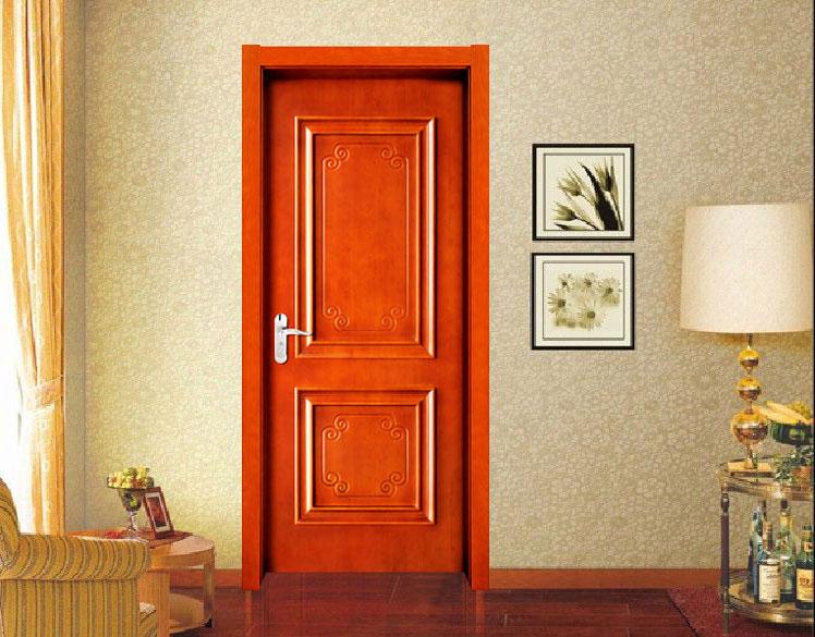 欧宝隆木门定制大扣线欧式实木套装门