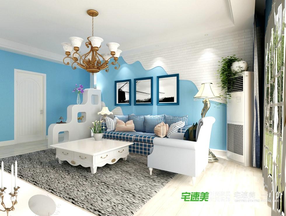 信德半岛四室一厅地中海风格效果图