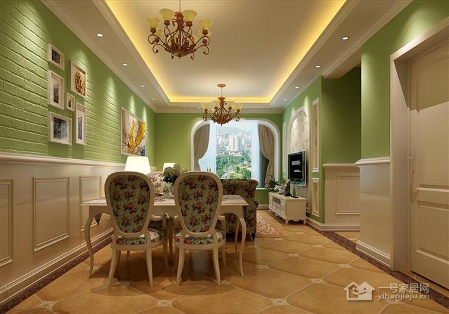 田园风格餐厅走廊清新装修效果图
