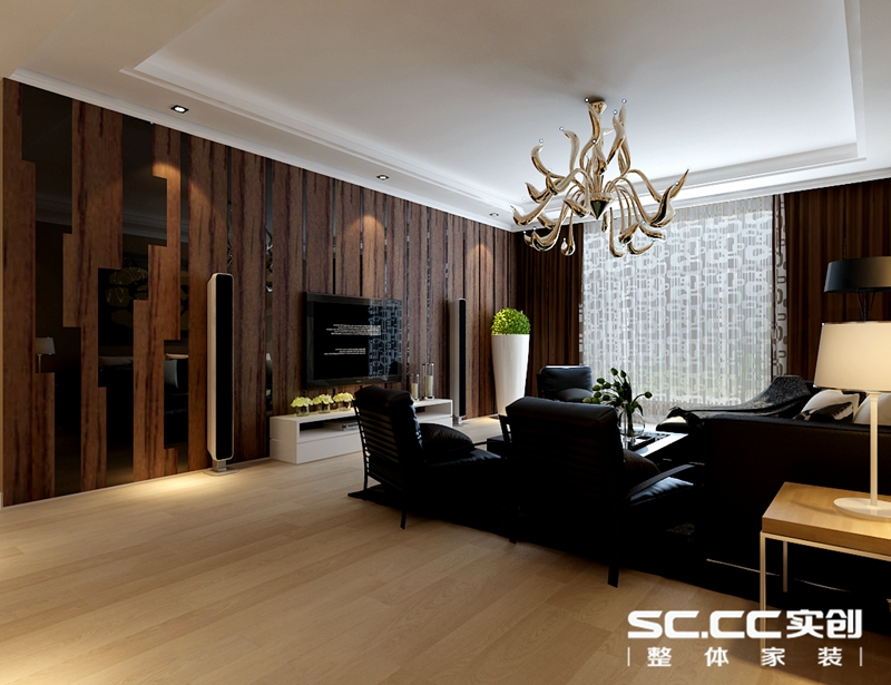 个体老板装修上和园著106平高雅现代两居婚房