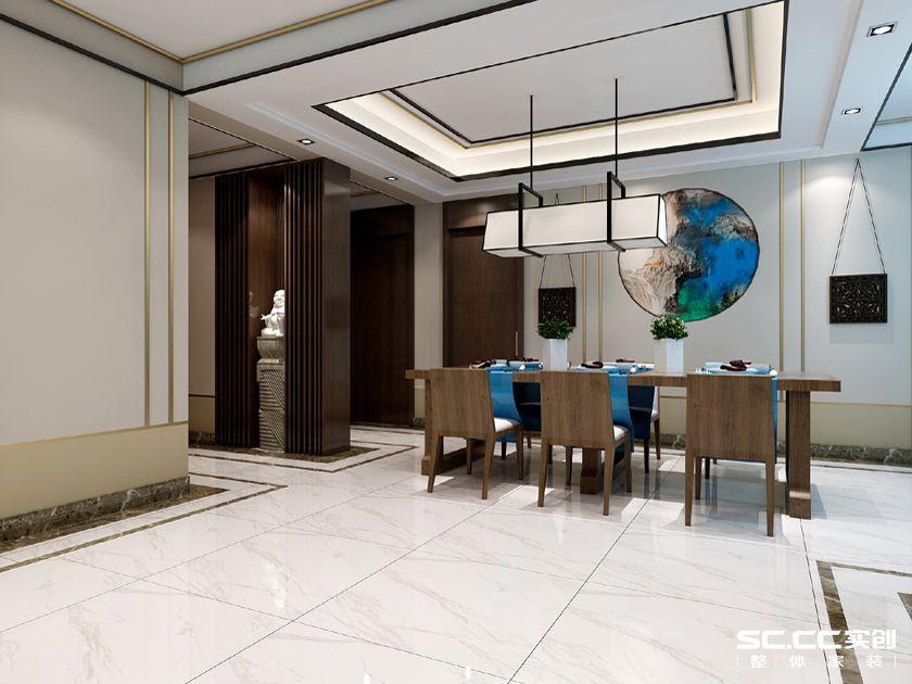 青特赫山联排A户型210平四室两厅两卫新中式装修
