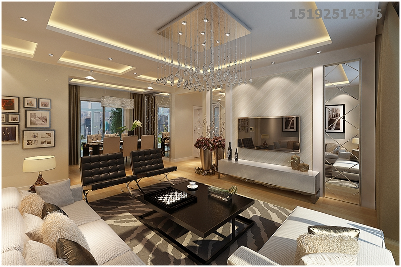 都市果岭137平三居室现代简约装修设计,三代同堂的家居|青岛实创装饰
