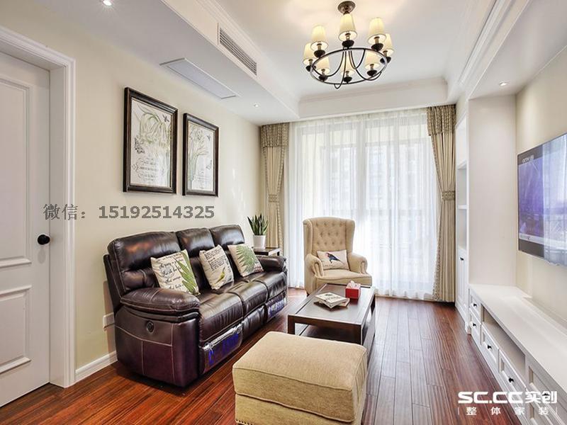 老两口的美式小居,裕龙檀顶山85平两居室装修设计|青岛实创装饰