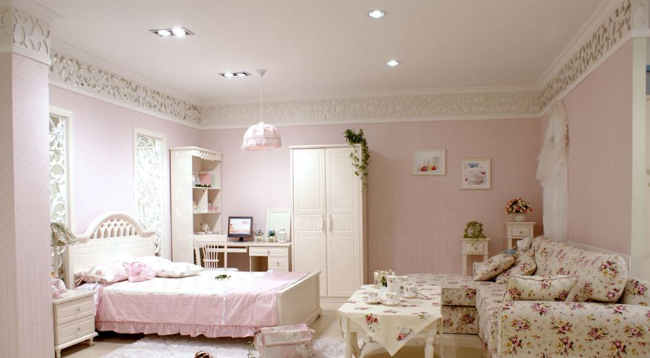荆门碧桂园两室一厅温馨自然的现代田园风格
