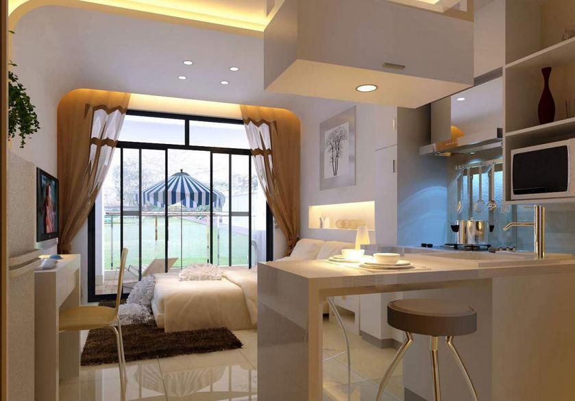 荆门天鹅小区单身公寓时尚大方的现代风格
