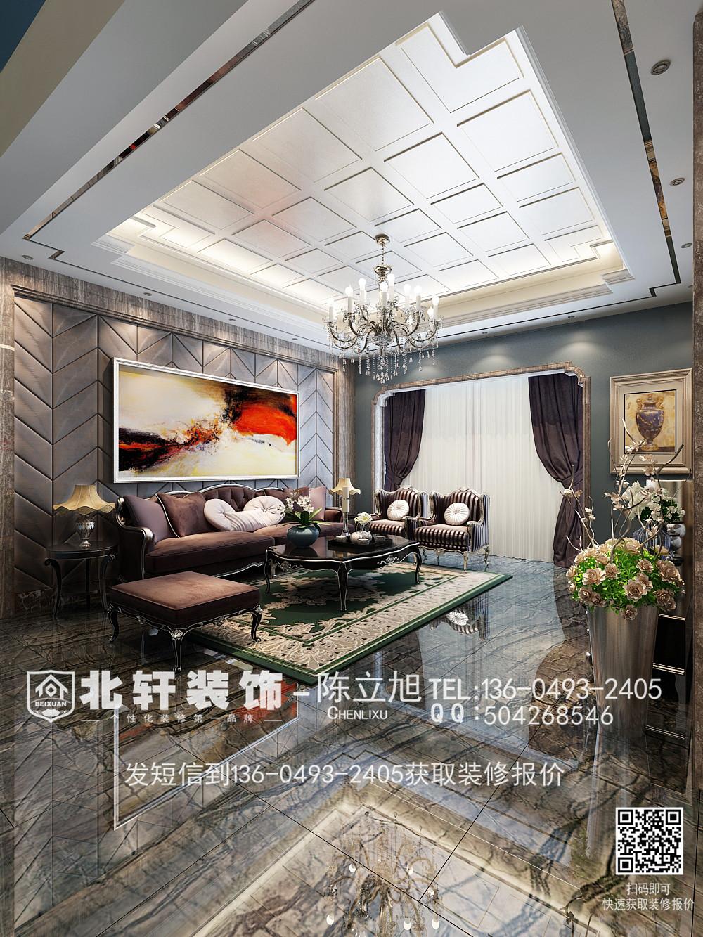盘锦东方银座260平米别墅新古典风格装修效果图