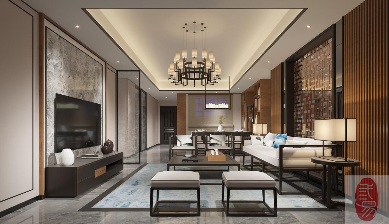 富丽华3房新中式风格10万全包