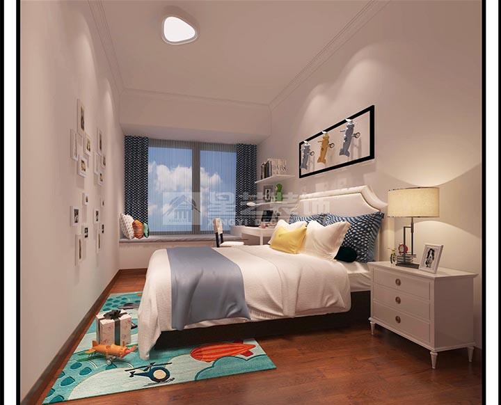 岳阳现代装修天鹅湖三期138平4室1厅儿童房效果图