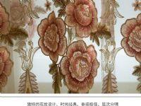 欧式窗帘客厅卧室镂空水溶绣花奢华成品布料