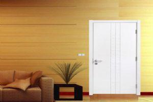 欧宝隆木门定制白色混油实木烤漆门