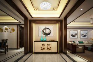新中式客厅玄关