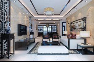 新中式装修设计案例效果图-北都国际装饰