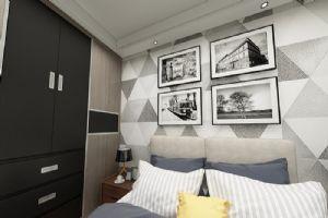 现代简约,卧室效果图