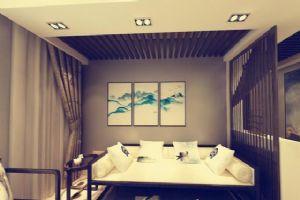 松石国际城现代+中式设计,公装图片效果图