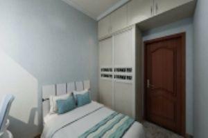 邓关安置房刘先生家装设计卧室效果图