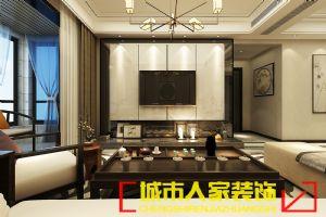【洛阳装饰公司城市人家装饰】君河湾166�O现代中式风格