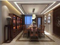 成都现代中式风格装修140平米户型装修案例