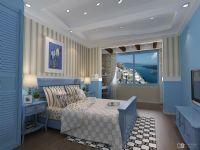 地中海卧室吊顶简洁装修效果图