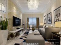 现代简约125平米三房二厅一卫清新装修效果图