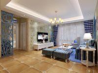 地中海178平米四房二厅二卫客厅背景墙清新装修效果图