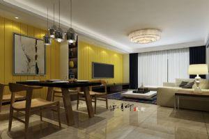 【呼市实创装饰】水岸新巢小区|125平米后现代风格/经典装修案例