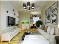 绿地中心105平三室两厅现代简约风格装修