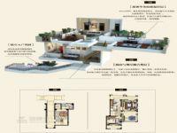 思念果岭别墅设计两室两厅96.75平C1户型效果图
