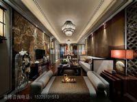 上东城98平方三室两厅新中式装修效果图