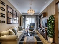 永威五月花城小区88平新房装修设计