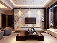 哈尔滨实创装饰11万装修翠湖天地117平后现代风格二居室温馨港湾