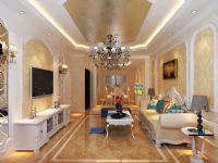 哈尔滨实创装饰11.9万装修巴黎第五区120平欧式风格三居室奢华美居