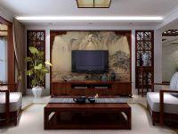 林荫大院C1户型135平米三室两厅中式风格装修案例图