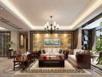 盛邦大都会二期四室两厅218平中式风格装修效果图