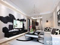 哈尔滨实创装饰打造玫瑰湾珑岸100平现代都市时尚两居