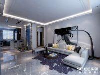 哈尔滨实创装饰打造江北万达城148平时尚大气三居室