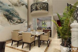 银盛泰德郡210平新古典别墅装修设计|