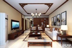 10.2万打造新城香溢紫郡123平新中式三居室装修设计