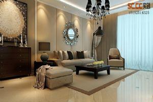 绿地阅海府邸88平二居室简约装修案例