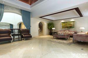 别墅装修案例青特花溪地欧式三居室168平装修