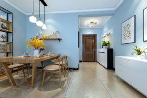 裕龙檀顶山D户型89平两居室北欧装修设计|青岛实创装饰