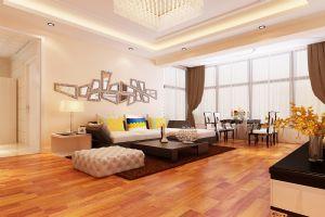 中欧国际城108平米三居户型简约装修